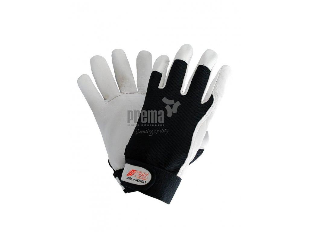 Mechaniker Handschuhe Nitras weiß 8905