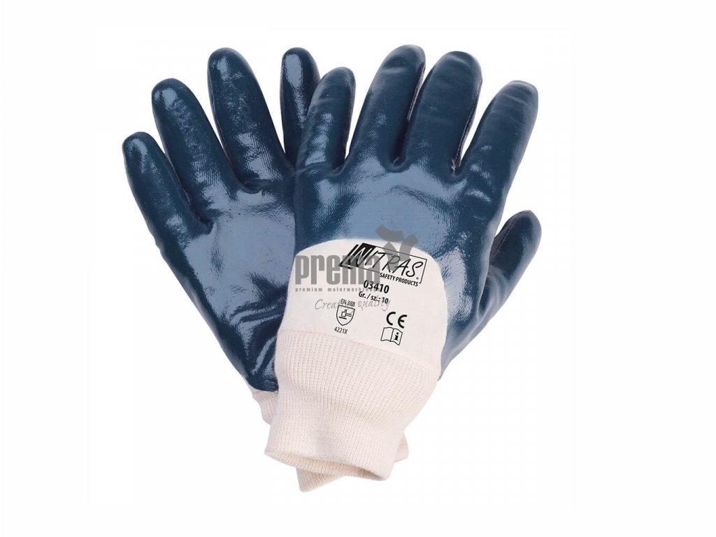 Baumwollhandschuhe mit Nitril blau Nitras 03410