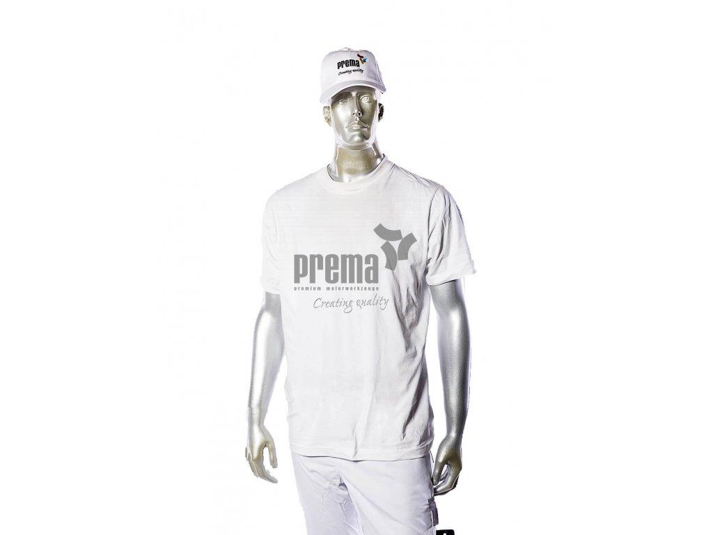 Kurzarm T Shirt weiß