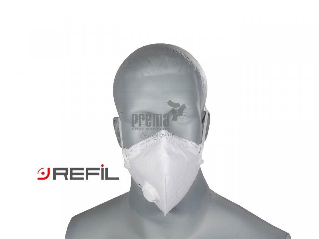Refil Atemschutzmaske, Refil Profi FFP1 mit Ausatemventil, Refil 711, Respirator Refil