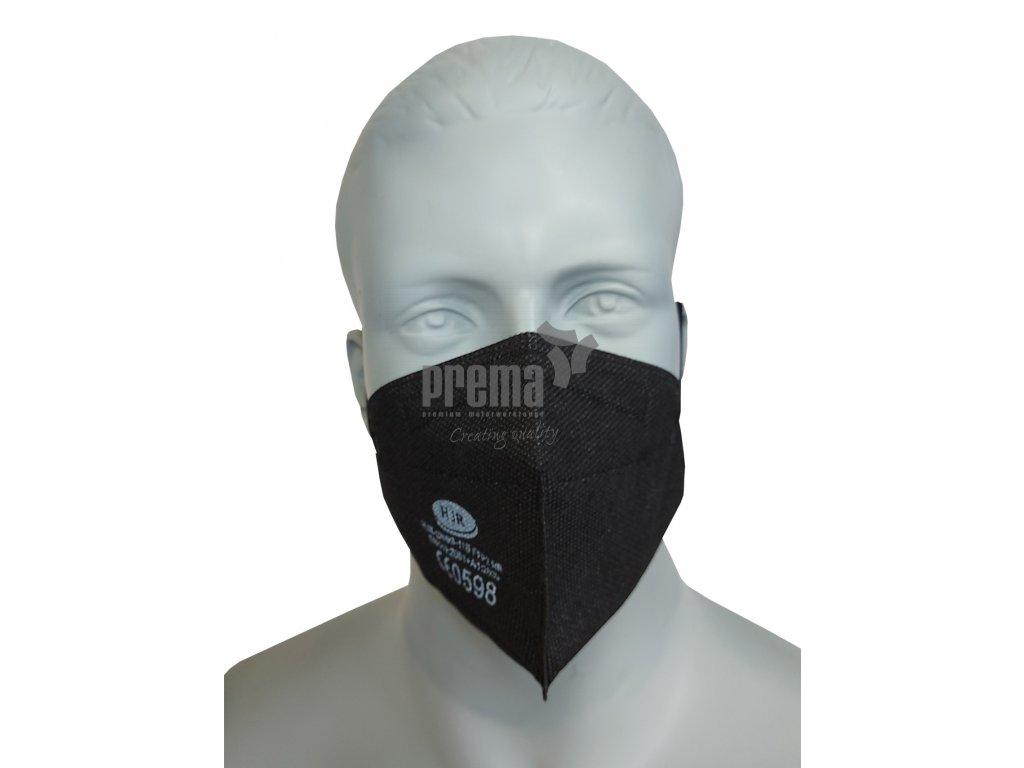 FFP2 Maske schwarz, HJR CN99 11B, schwarz