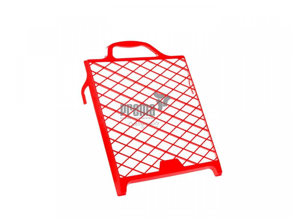 Abstreifgitter aus Kunststoff, rot