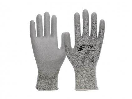 Schnittschutzhandschuhe grau Nitras 6315