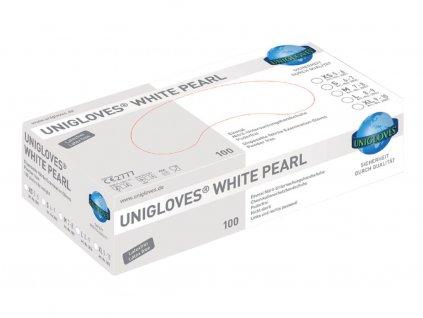unigloves white pearl nitrilhandschuhe