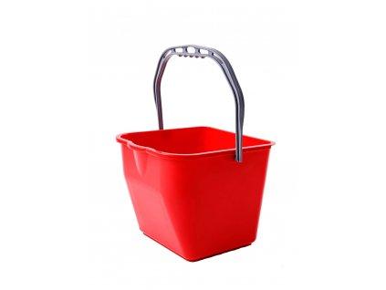 Eimer für Reinigungswagen rot