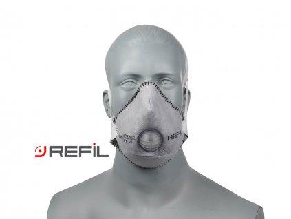Refil Staubschutzmaske, Refil Profi FFP2, mit Aktivkohlefilter, Refil 1041, Atemschutzmaske Refil