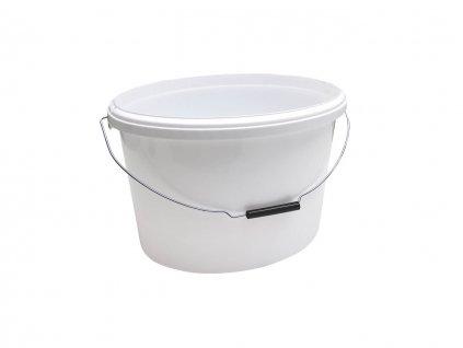 Farbeimer weiß oval, ohne Deckel