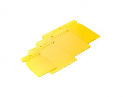 Japanspachtel Kunststoff gelb, 11cm hoch