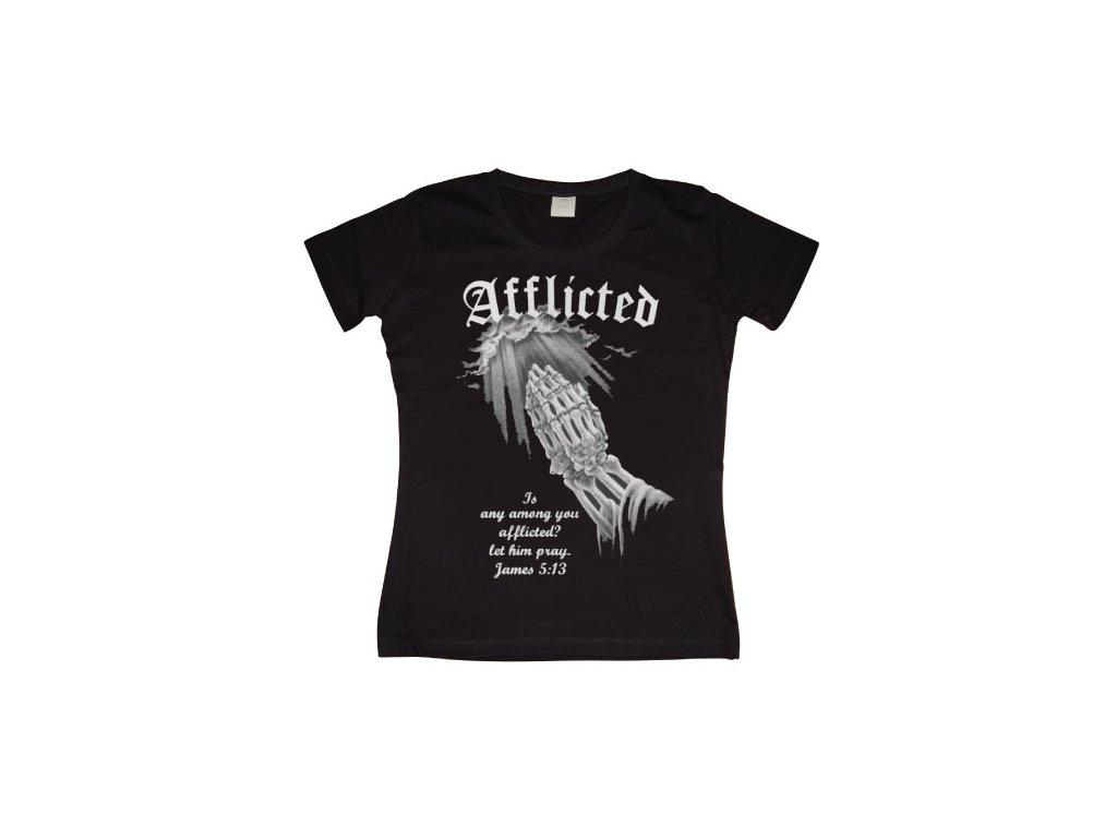 Dámské tričko Afflicted (Výběr velikosti XL)