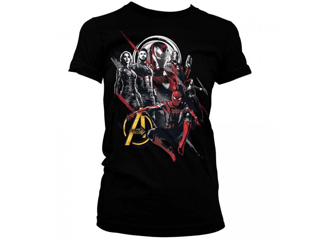 Dámské tričko Avengers Heroes (Výběr velikosti XXL)