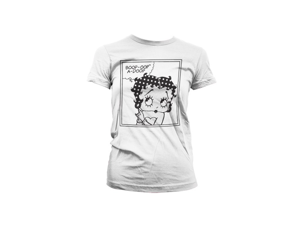 Dámské tričko Betty Boop Comic (Výběr velikosti XXL)