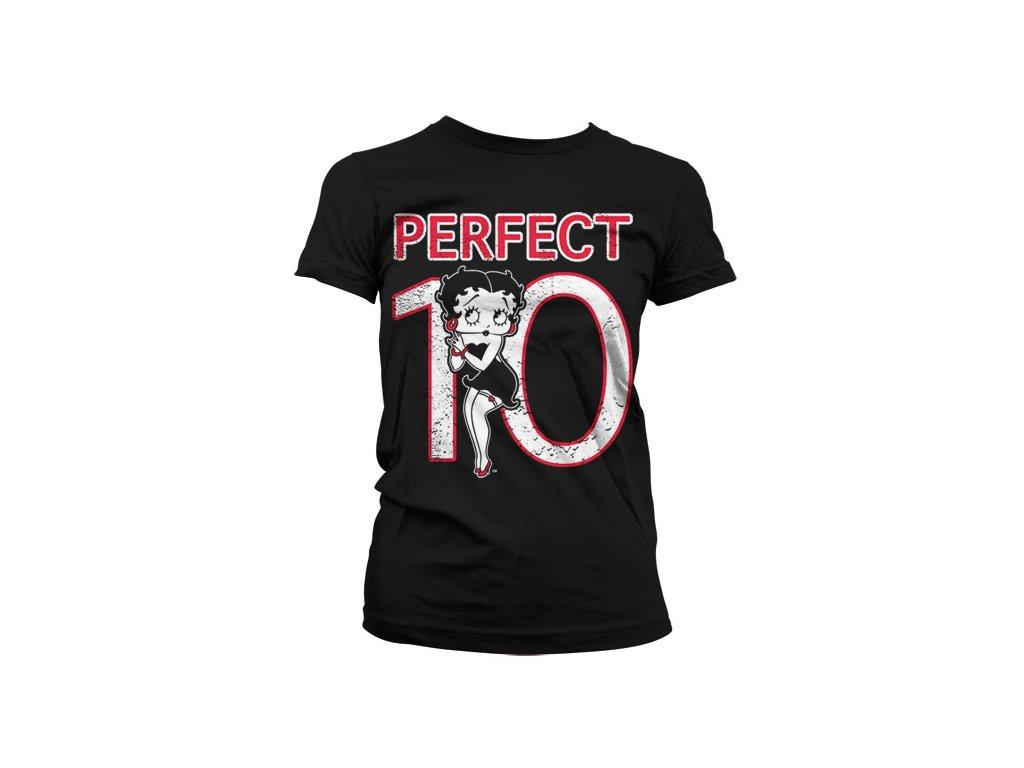 Dámské tričko Betty Boop Perfect 10 (Výběr velikosti XXL)