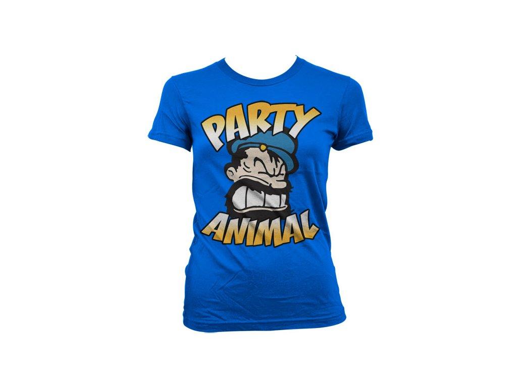 Dámské tričko Brutos - Party Animal (Barva Zelená, Velikost XXL)