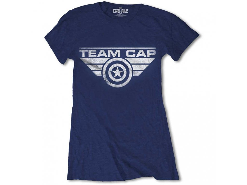 Dámské tričko CAPTAIN AMERICA TEAM CAP (Veľkosť XL)