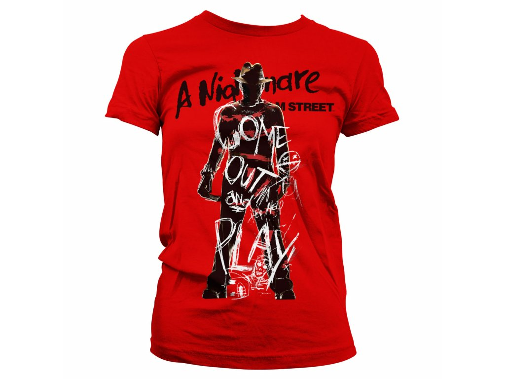 Dámské tričko Come Out And Play Girly Tee (Výběr velikosti S)