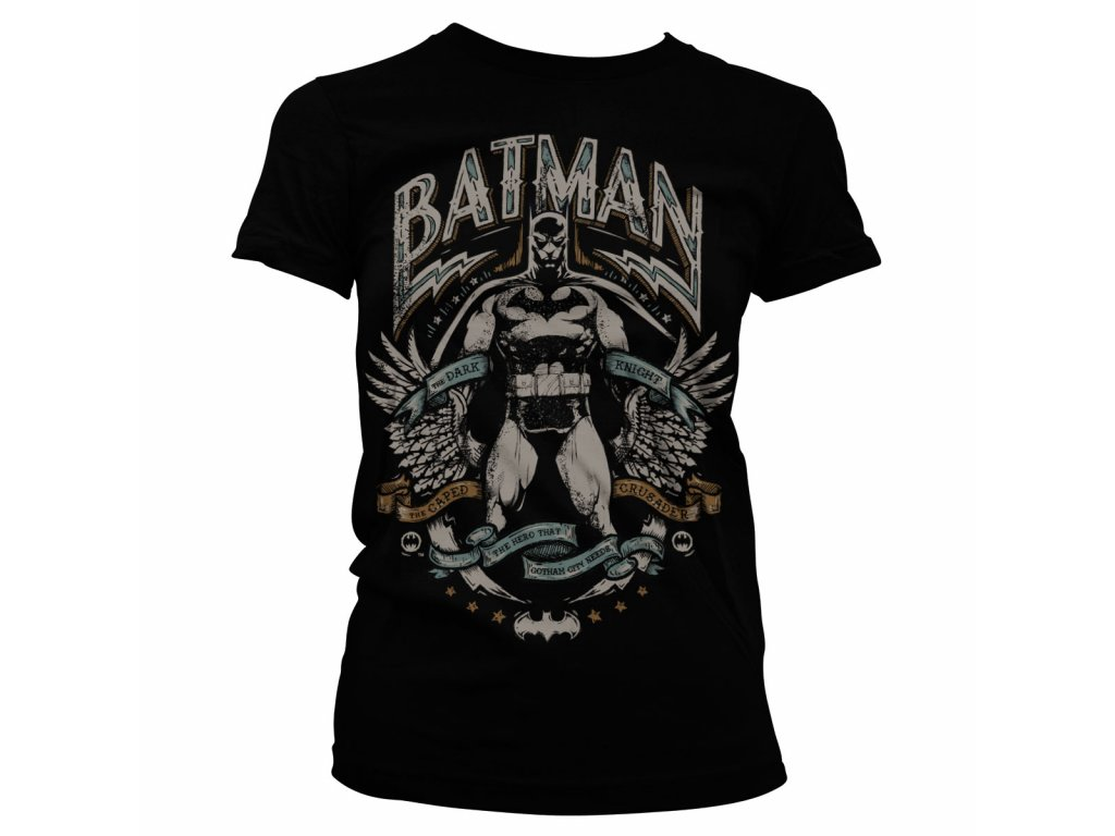 Dámské tričko Dark Knight Crusader (Výběr velikosti XXL)