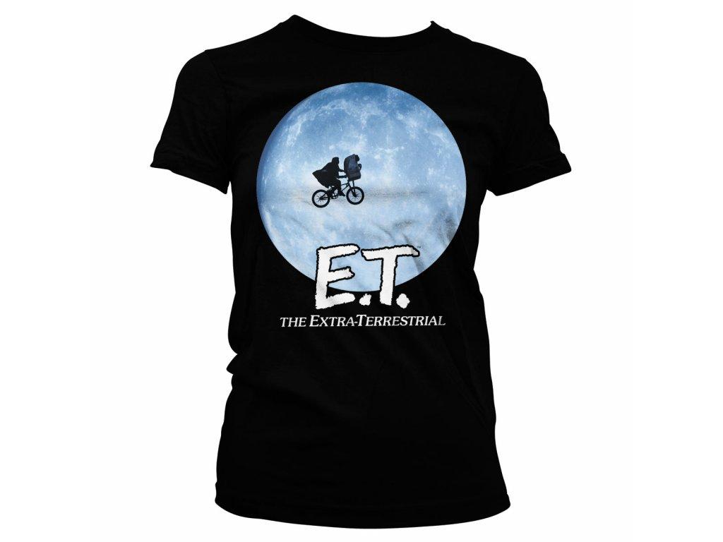 Dámské tričko E.T. Bike In The Moon (Výběr velikosti XXL)