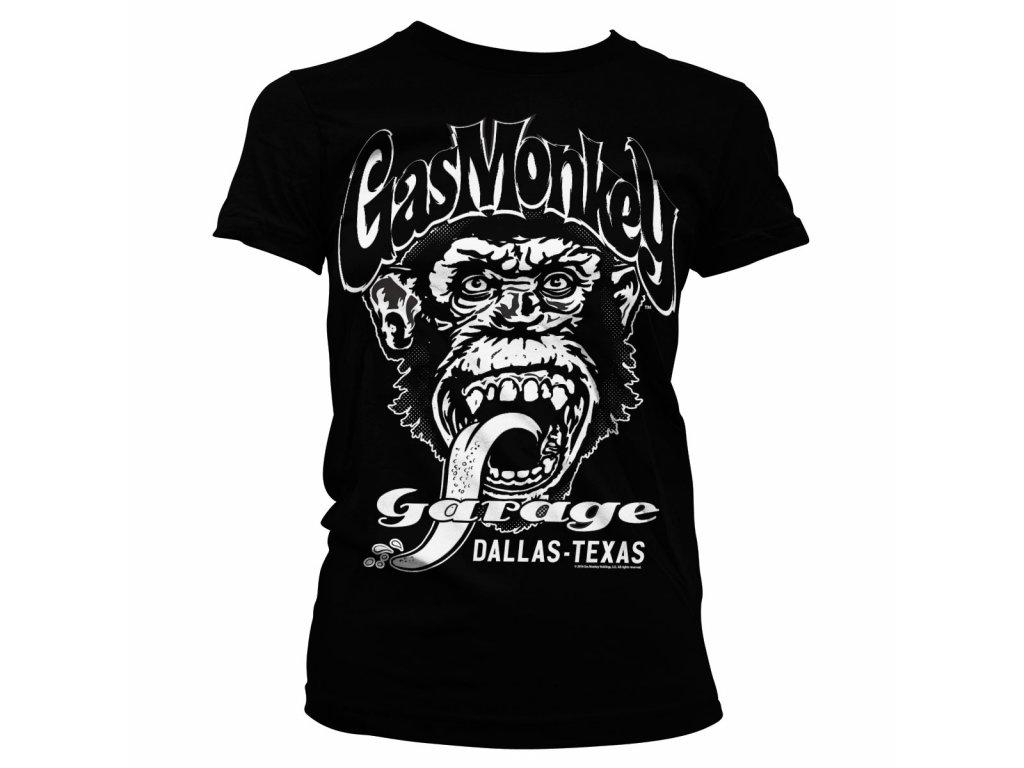 Dámské tričko Gas Monkey Garage - Dallas Texas (Výběr velikosti XXL)