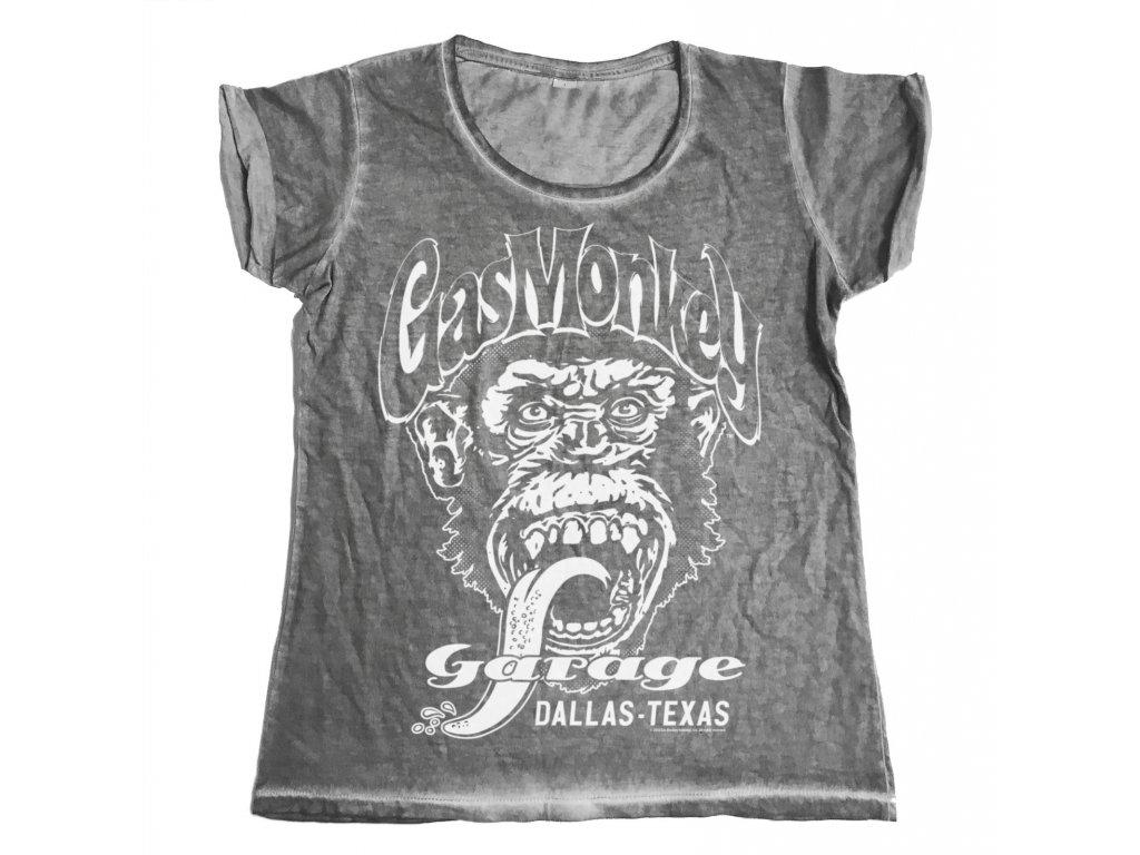 Dámské tričko Gas Monkey Garage - Dallas Texas (Výběr velikosti XL)