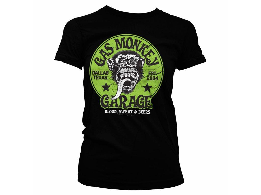 Dámské tričko Gas Monkey Garage - Green Logo (Výběr velikosti XXL)