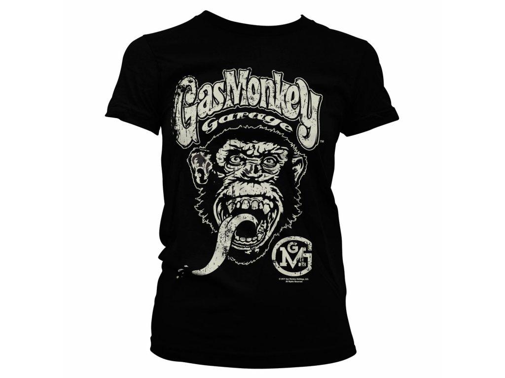 Dámské tričko Gas Monkey Garage Big Brand Logo (Výběr velikosti XXL)