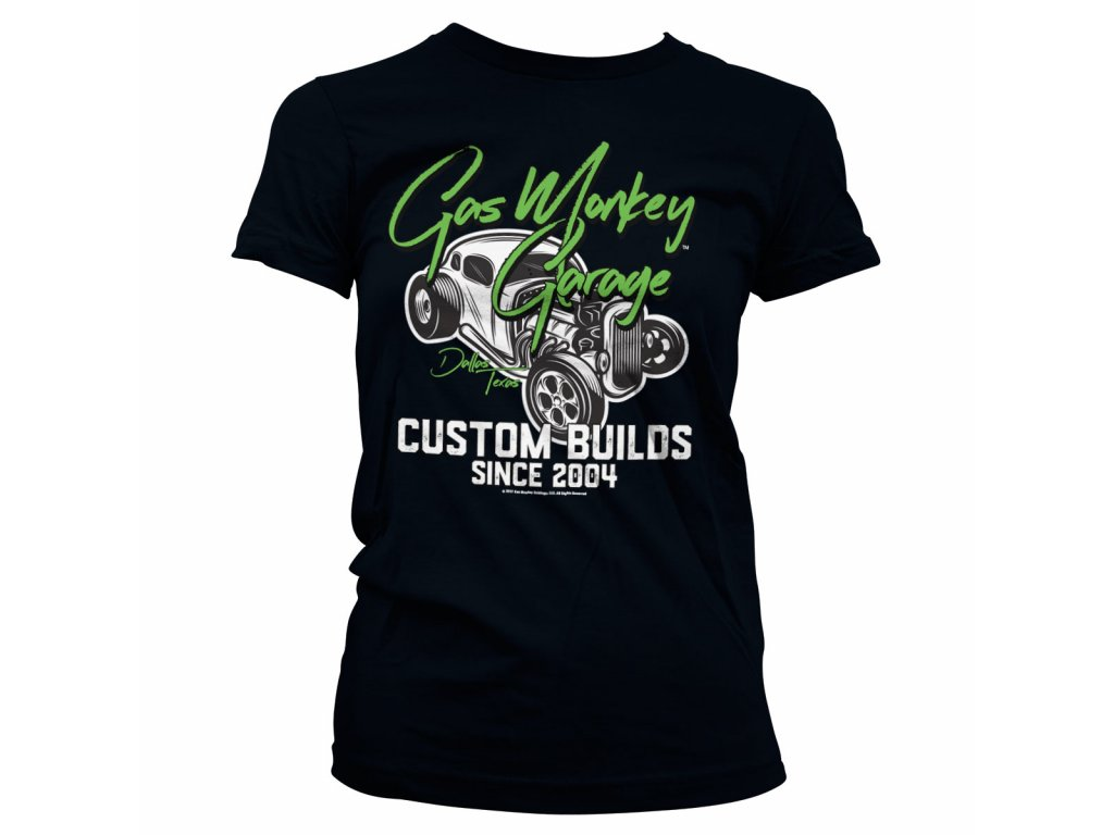 Dámské tričko Gas Monkey Garage Custom Neon (Výběr velikosti XXL)