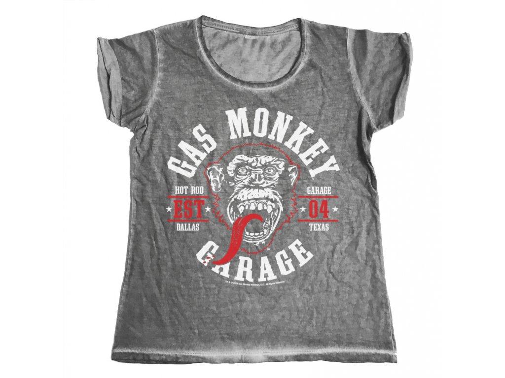 Dámské tričko Gas Monkey Garage Round Seal (Výběr velikosti XL)