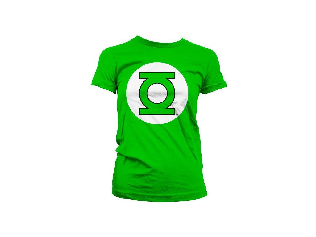 Dámské tričko Green Lantern Logo (Výběr velikosti XXL)