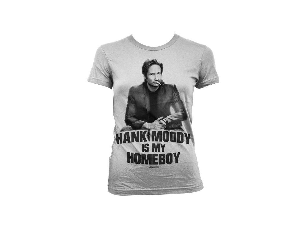 Dámské tričko Hank Moody Is My Homeboy (Velikost XXL)