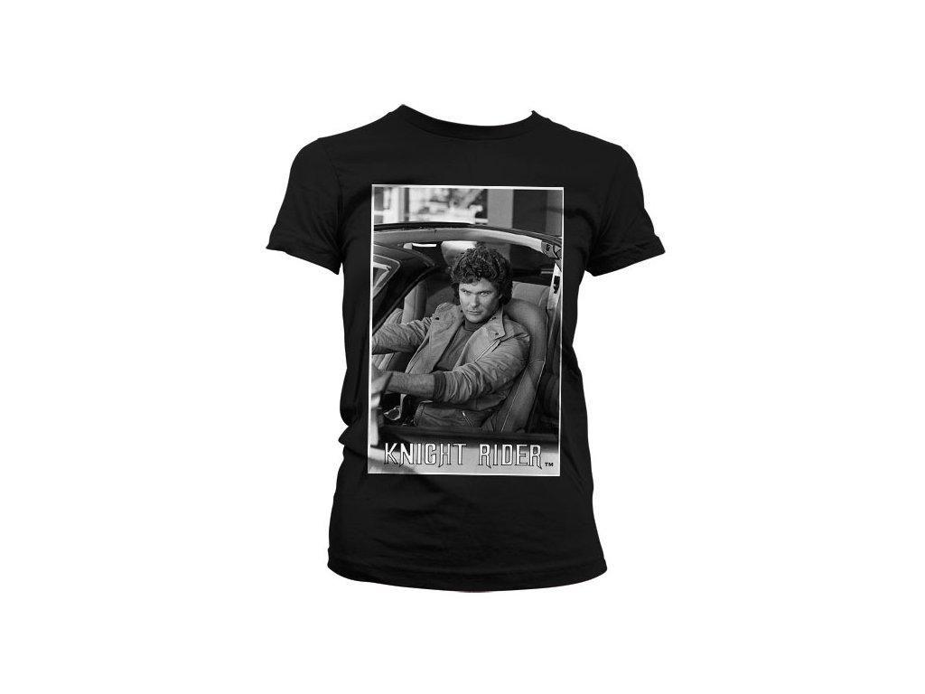 Dámské tričko Hasselhoff In Knight Rider (Výběr velikosti XXL)