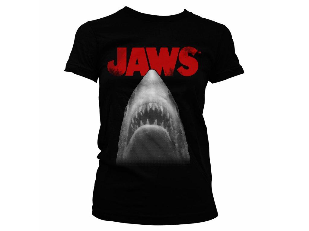 Dámské tričko Jaws Poster (Výběr velikosti XXL)