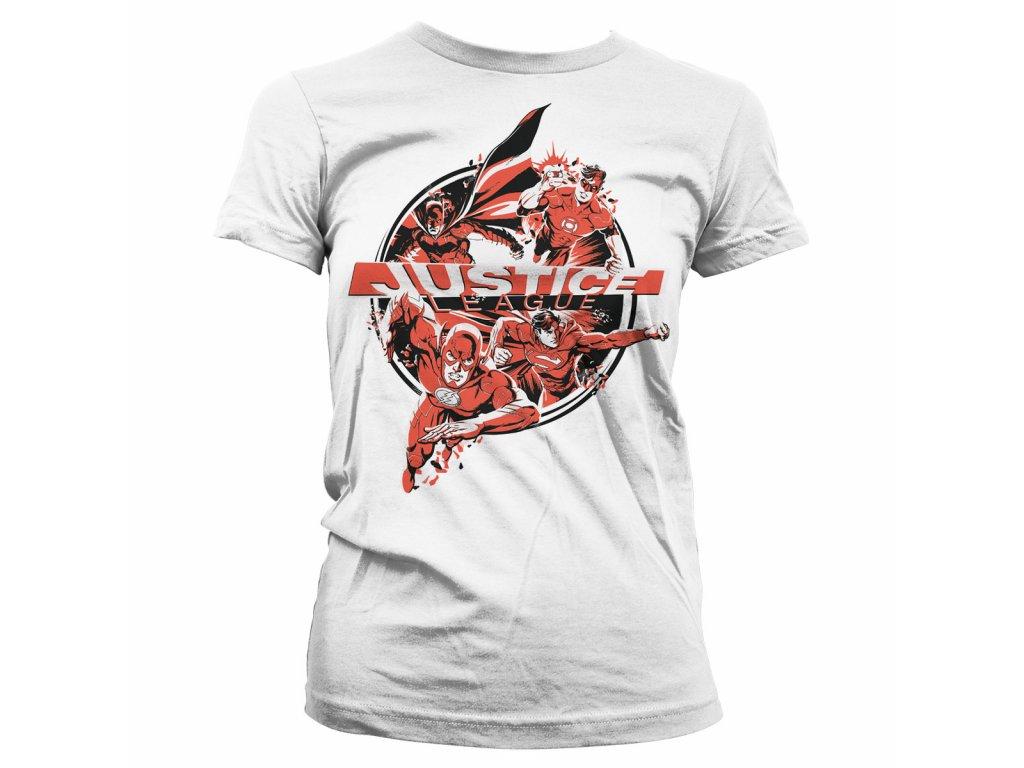 Dámské tričko Justice League Heroes (Výběr velikosti XXL)