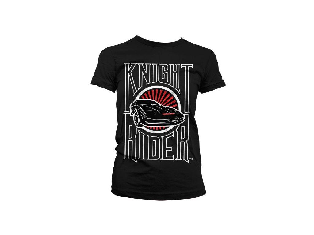 Dámské tričko Knight Rider Sunset K.I.T.T. (Výběr velikosti L)