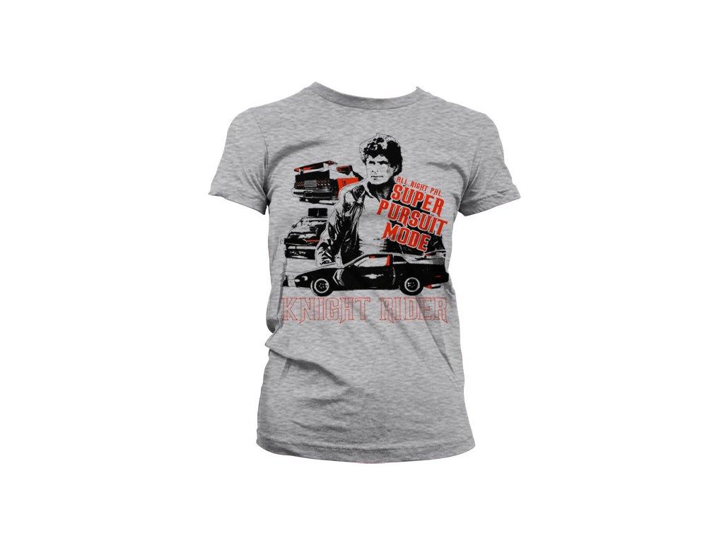 Dámské tričko Knight Rider Super Pursuit Mode (Výběr velikosti XXL)