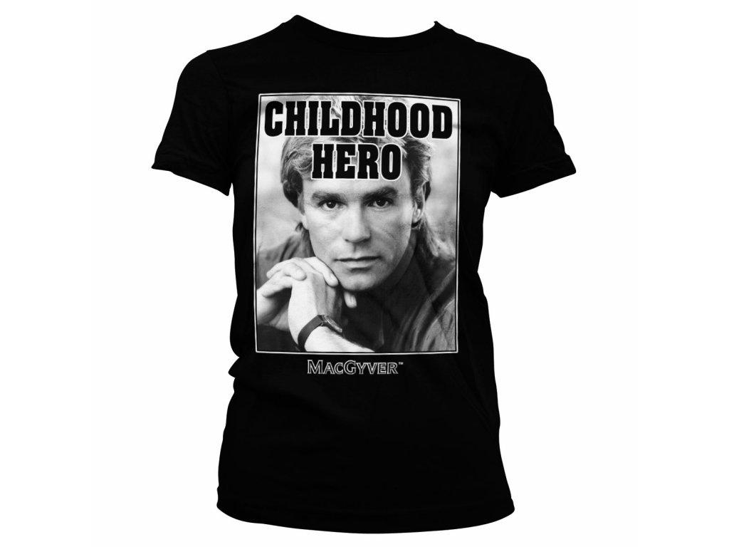 Dámské tričko Macgyver Childhood Her (Výběr velikosti XXL)