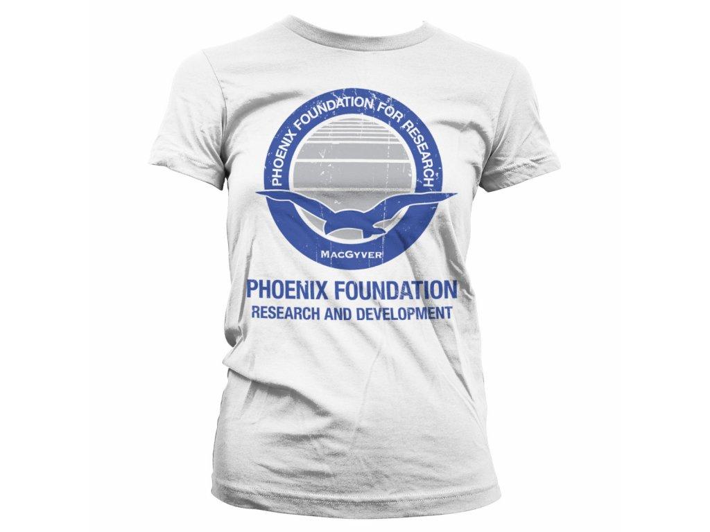 Dámské tričko Macgyver Phoenix Foundation (Výběr velikosti XL)