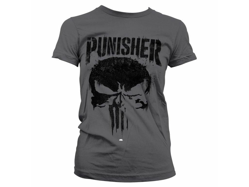 Dámské tričko Marvel's The Punisher Big Skull (Výběr velikosti XXL)