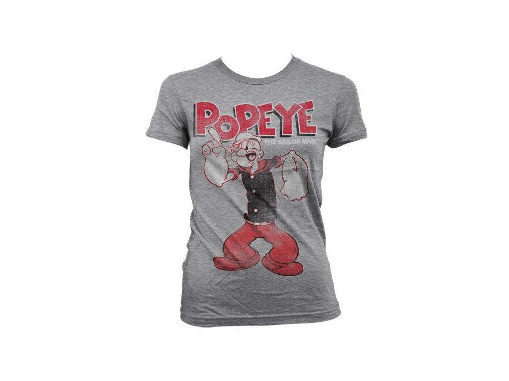 Dámské tričko Popeye Distressed Sailor Man (Výběr velikosti L)