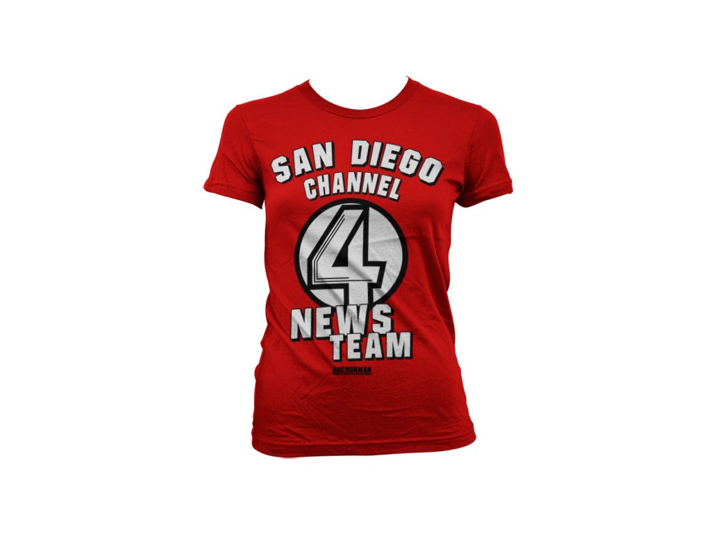 Dámské tričko  San Diego Channel 4 (Výběr velikosti XXL)