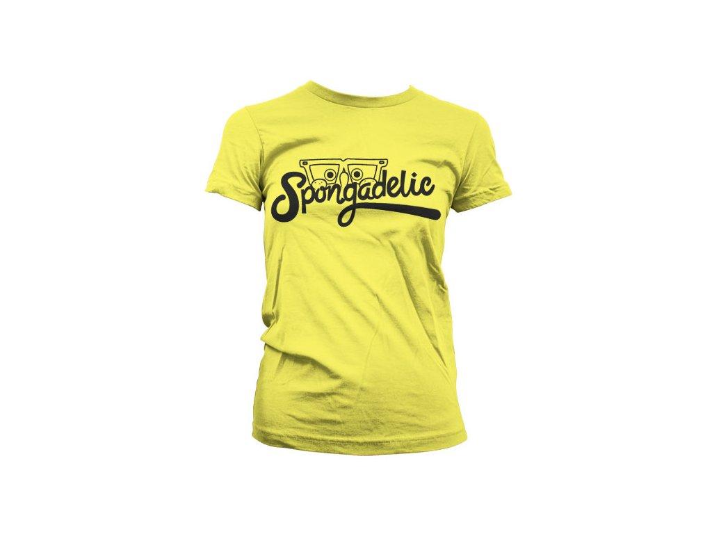 Dámské tričko Spongadelic (Barva Šedá, Velikost XXL)