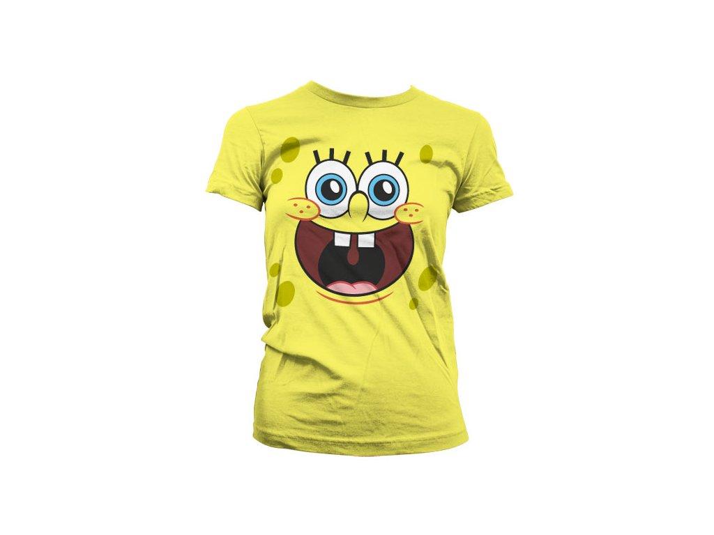 Dámské tričko Sponge Happy Face (Výběr velikosti XXL)