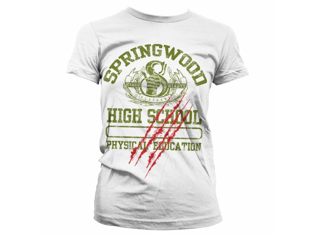 Dámské tričko  Springwood High School (Výběr velikosti XXL)