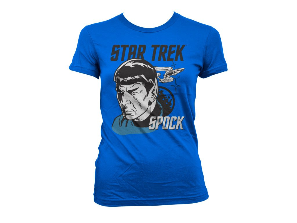Dámské tričko Star Trek & Spock (Barva Růžová, Velikost XXL)