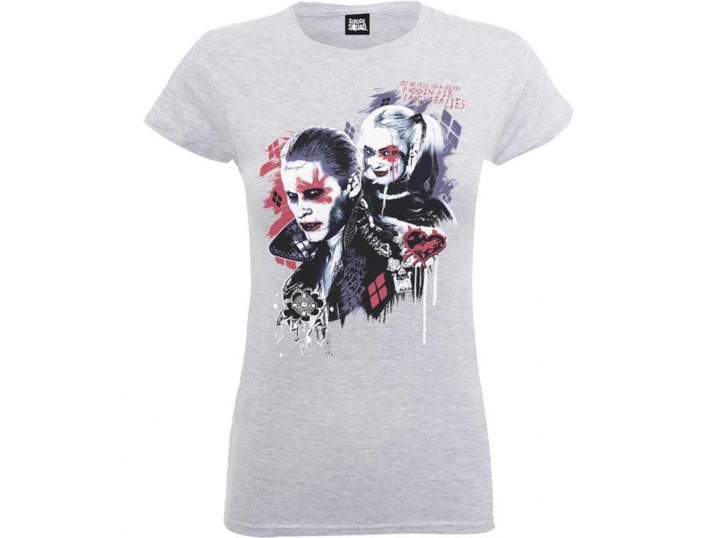 Dámské tričko SUICIDE SQUAD HARLEY'S (Veľkosť XL)
