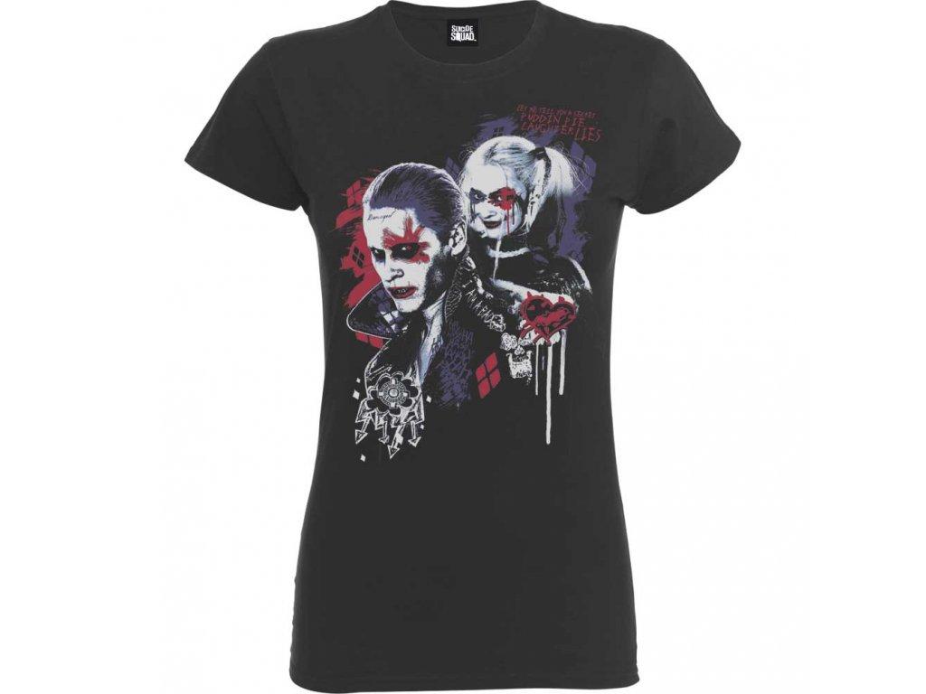 Dámské tričko SUICIDE SQUAD HARLEY'S PUDDIN (Veľkosť XL)