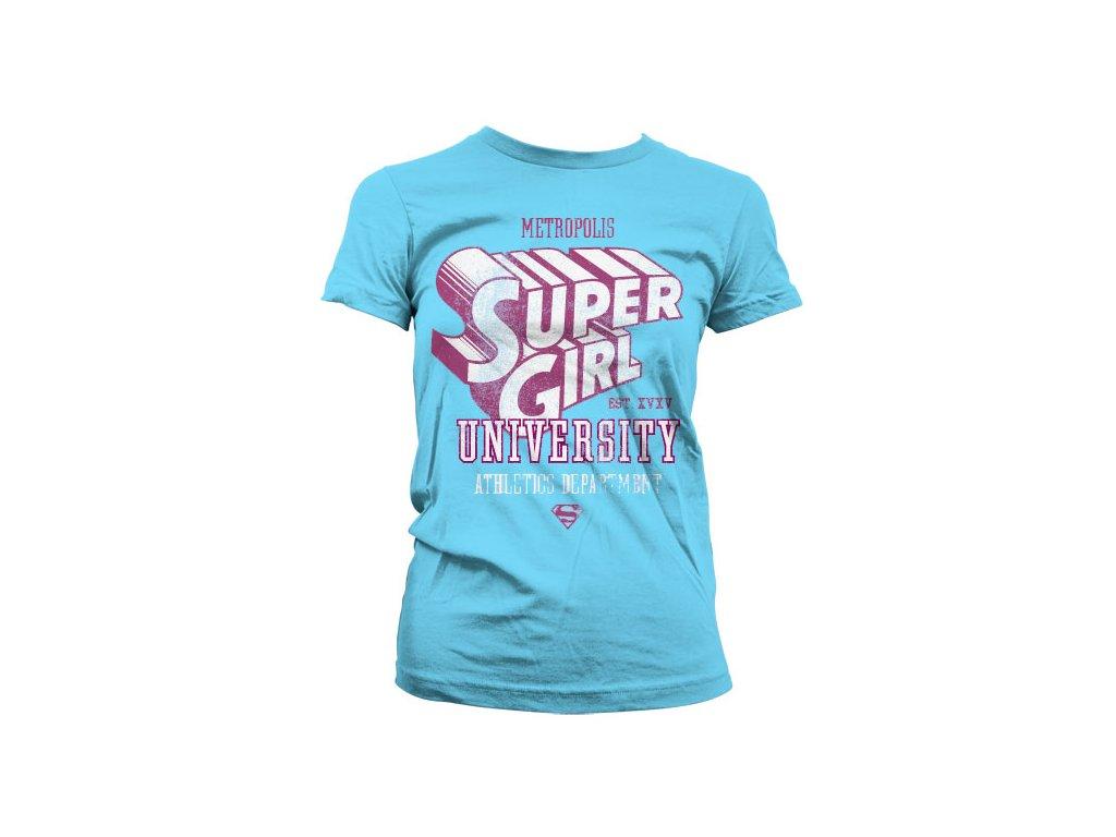 Dámské tričko Supergirl Athletics Dept. (Výběr velikosti XXL)