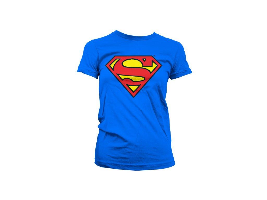 Dámské tričko Superman Shield (Výběr velikosti XXL)