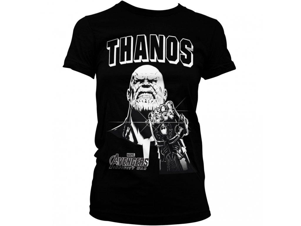 Dámské tričko The Avengers Thanos Infinity Gauntlet (Výběr velikosti XXL)