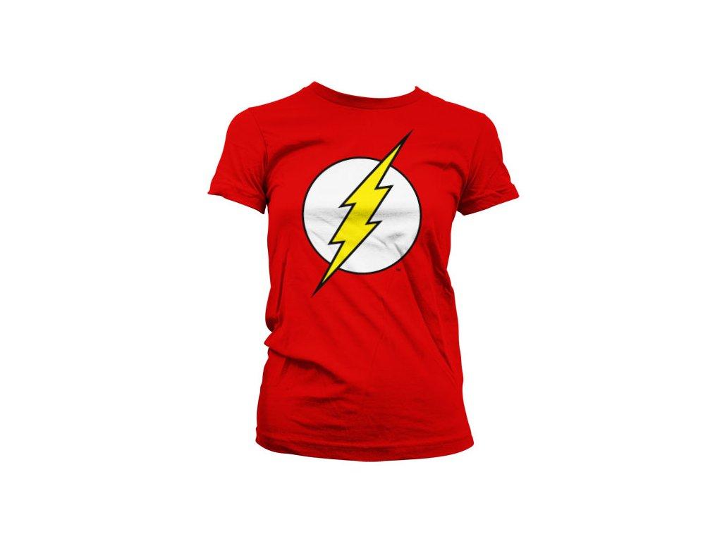 Dámské tričko The Flash Emblem (Výběr velikosti L)
