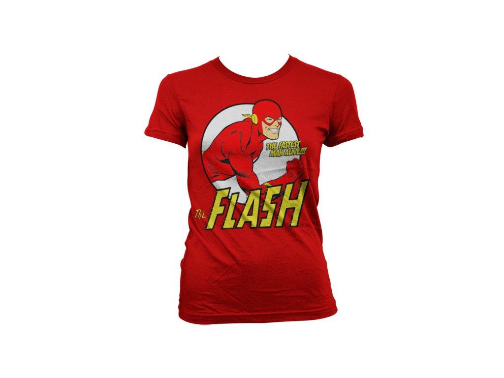 Dámské tričko The Flash Fastest Man Alive (Výběr velikosti L)